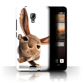 STUFF4 Phone Case/Cover for Huawei Ascend Mate2 4G/Peeking Bunny Design/Funny Animals Mobile phones