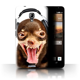 STUFF4 Phone Case/Cover for Huawei Ascend Mate2 4G/Ridiculous Dog Design/Funny Animals Mobile phones
