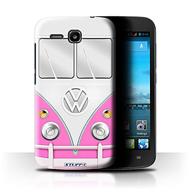 STUFF4 Phone Case/Cover for Huawei Ascend Y600/Pink Design/VW Camper Van Mobile phones