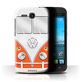 STUFF4 Phone Case/Cover for Huawei Ascend Y600/Red Design/VW Camper Van Mobile phones