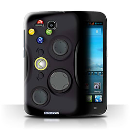 STUFF4 Phone Case/Cover for Huawei Ascend Y600/Black Xbox 360 Design/Games Console Mobile phones
