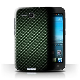 STUFF4 Phone Case/Cover for Huawei Ascend Y600/Green Design/Carbon Fibre Effect/Pattern Mobile phones