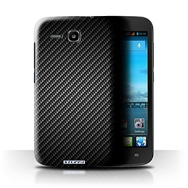 STUFF4 Phone Case/Cover for Huawei Ascend Y600/Grey Design/Carbon Fibre Effect/Pattern Mobile phones