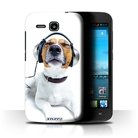 STUFF4 Phone Case/Cover for Huawei Ascend Y600/Chillin Headphone Dog Design/Funny Animals Mobile phones