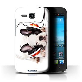 STUFF4 Phone Case/Cover for Huawei Ascend Y600/Snooze Headphone Dog Design/Funny Animals Mobile phones