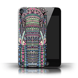 STUFF4 Phone Case/Cover for Apple iPod Touch 5 (5th Generation)/Elephant-Colour Design/Aztec Animal Mobile phones