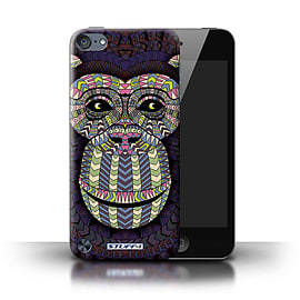 STUFF4 Phone Case/Cover for Apple iPod Touch 5 (5th Generation)/Monkey-Colour Design/Aztec Animal Mobile phones