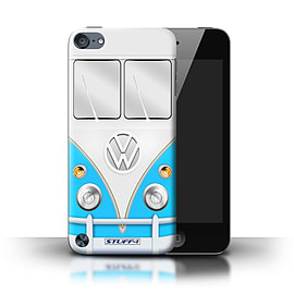 STUFF4 Phone Case/Cover for Apple iPod Touch 5/Blue Design/VW Camper Van Mobile phones