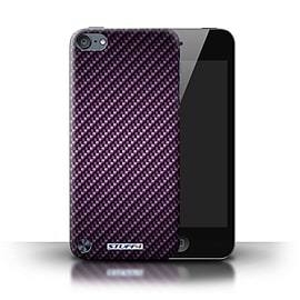 STUFF4 Phone Case/Cover for Apple iPod Touch 5 (5th Generation)/Purple Design/Carbon Fibre Effect Mobile phones