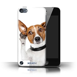 STUFF4 Phone Case/Cover for Apple iPod Touch 5 (5th Generation)/Listening Dog Design/Funny Animals Mobile phones