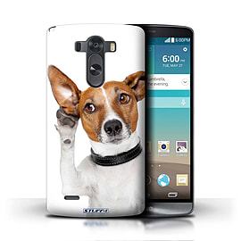 STUFF4 Phone Case/Cover for LG G3/D850/D855/Listening Dog Design/Funny Animals Mobile phones