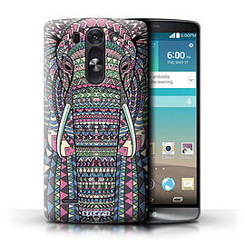 STUFF4 Phone Case/Cover for LG G3 S (Mini)/D722/Elephant-Colour Design/Aztec Animal Design Mobile phones