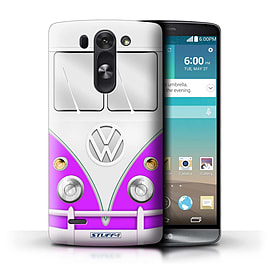 STUFF4 Phone Case/Cover for LG G3 Mini S/D722/Purple Design/VW Camper Van Mobile phones