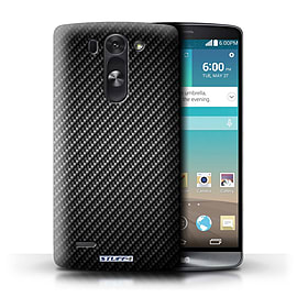 STUFF4 Phone Case/Cover for LG G3 S (Mini)/D722/Grey Design/Carbon Fibre Effect/Pattern Mobile phones
