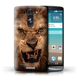 STUFF4 Phone Case/Cover for LG G3 S (Mini)/D722/Lion Design/Wildlife Animals Mobile phones