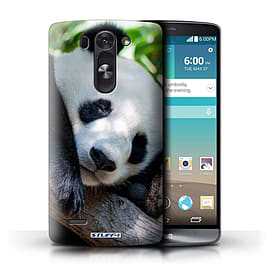 STUFF4 Phone Case/Cover for LG G3 S (Mini)/D722/Panda Bear Design/Wildlife Animals Mobile phones