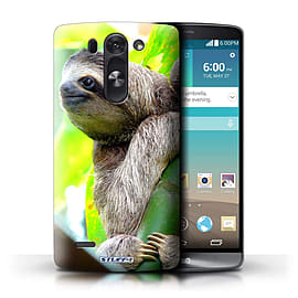 STUFF4 Phone Case/Cover for LG G3 S (Mini)/D722/Sloth Design/Wildlife Animals Mobile phones