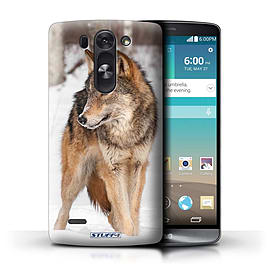 STUFF4 Phone Case/Cover for LG G3 S (Mini)/D722/Wolf Design/Wildlife Animals Mobile phones