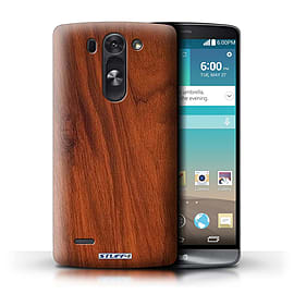 STUFF4 Phone Case/Cover for LG G3 S (Mini)/D722/Mahogany Design/Wood Grain Effect/Pattern Mobile phones