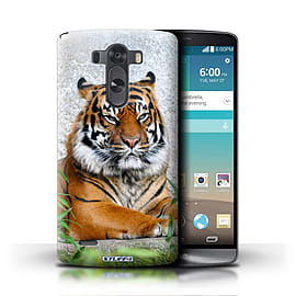 STUFF4 Phone Case/Cover for LG G3/D850/D855/Tiger Design/Wildlife Animals Mobile phones