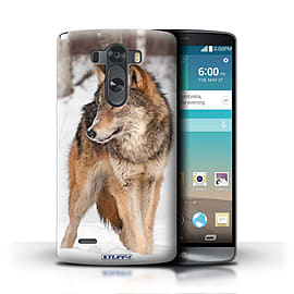 STUFF4 Phone Case/Cover for LG G3/D850/D855/Wolf Design/Wildlife Animals Mobile phones