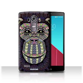 STUFF4 Phone Case/Cover for LG G4/H815/H818/Monkey-Colour Design/Aztec Animal Design Mobile phones