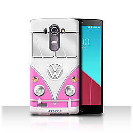 STUFF4 Phone Case/Cover for LG G4/H815/H818/Pink Design/VW Camper Van Mobile phones