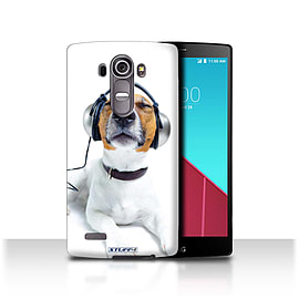STUFF4 Phone Case/Cover for LG G4/H815/H818/Chillin Headphone Dog Design/Funny Animals Mobile phones