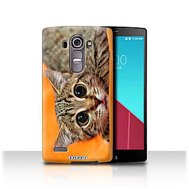 STUFF4 Phone Case/Cover for LG G4/H815/H818/Big Eye Cat Design/Funny Animals Mobile phones