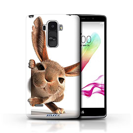 STUFF4 Phone Case/Cover for LG G4 Stylus/Peeking Bunny Design/Funny Animals Mobile phones