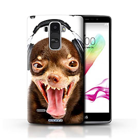 STUFF4 Phone Case/Cover for LG G4 Stylus/Ridiculous Dog Design/Funny Animals Mobile phones