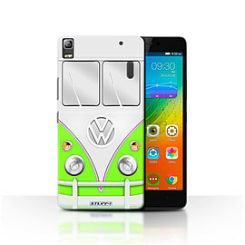 STUFF4 Phone Case/Cover for Lenovo K3 Note/K50-T5/Green Design/VW Camper Van Mobile phones