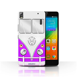 STUFF4 Phone Case/Cover for Lenovo K3 Note/K50-T5/Purple Design/VW Camper Van Mobile phones