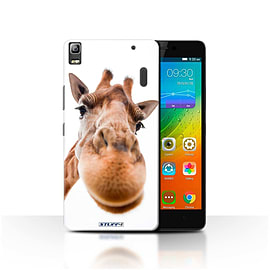 STUFF4 Phone Case/Cover for Lenovo K3 Note/K50-T5/Closeup Giraffe Design/Funny Animals Mobile phones