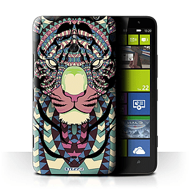 STUFF4 Phone Case/Cover for Nokia Lumia 1320/Tiger-Colour Design/Aztec Animal Design Mobile phones