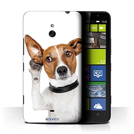 STUFF4 Phone Case/Cover for Nokia Lumia 1320/Listening Dog Design/Funny Animals Mobile phones