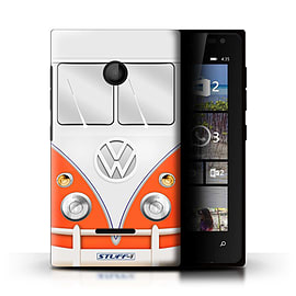 STUFF4 Phone Case/Cover for Microsoft Lumia 435/Red Design/VW Camper Van Mobile phones