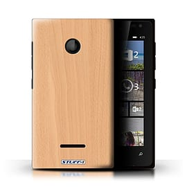 STUFF4 Phone Case/Cover for Microsoft Lumia 435/Beech Design/Wood Grain Effect/Pattern Mobile phones