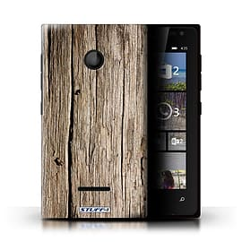 STUFF4 Phone Case/Cover for Microsoft Lumia 435/Driftwood Design/Wood Grain Effect/Pattern Mobile phones