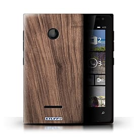 STUFF4 Phone Case/Cover for Microsoft Lumia 435/Walnut Design/Wood Grain Effect/Pattern Mobile phones