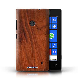 STUFF4 Phone Case/Cover for Nokia Lumia 520/Mahogany Design/Wood Grain Effect/Pattern Mobile phones