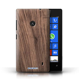 STUFF4 Phone Case/Cover for Nokia Lumia 520/Walnut Design/Wood Grain Effect/Pattern Mobile phones