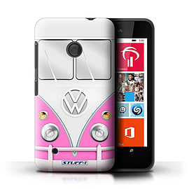 STUFF4 Phone Case/Cover for Nokia Lumia 530/Pink Design/VW Camper Van Mobile phones