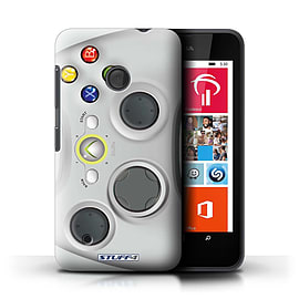 STUFF4 Phone Case/Cover for Nokia Lumia 530/White Xbox 360 Design/Games Console Mobile phones