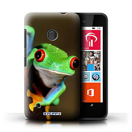 STUFF4 Phone Case/Cover for Nokia Lumia 530/Frog Design/Wildlife Animals Mobile phones