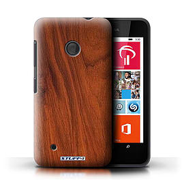 STUFF4 Phone Case/Cover for Nokia Lumia 530/Mahogany Design/Wood Grain Effect/Pattern Mobile phones