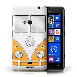 STUFF4 Phone Case/Cover for Nokia Lumia 625/Orange Design/VW Camper Van Mobile phones