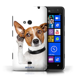 STUFF4 Phone Case/Cover for Nokia Lumia 625/Listening Dog Design/Funny Animals Mobile phones