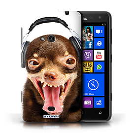 STUFF4 Phone Case/Cover for Nokia Lumia 625/Ridiculous Dog Design/Funny Animals Mobile phones
