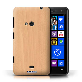 STUFF4 Phone Case/Cover for Nokia Lumia 625/Beech Design/Wood Grain Effect/Pattern Mobile phones
